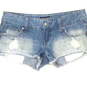 Forever 21 Premium Denim Shortie Jean Shorts 26